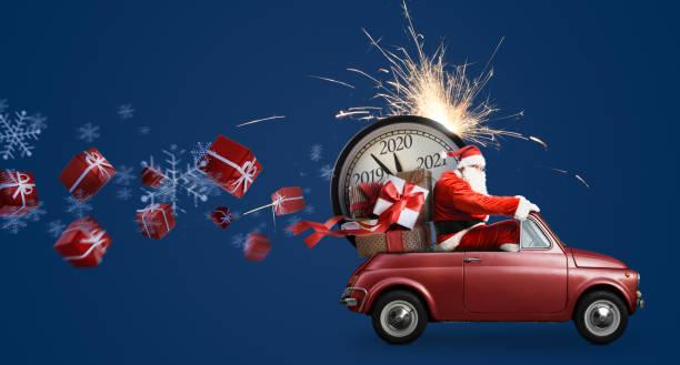 Weihnachtsmann Countdown auf Auto – Foto