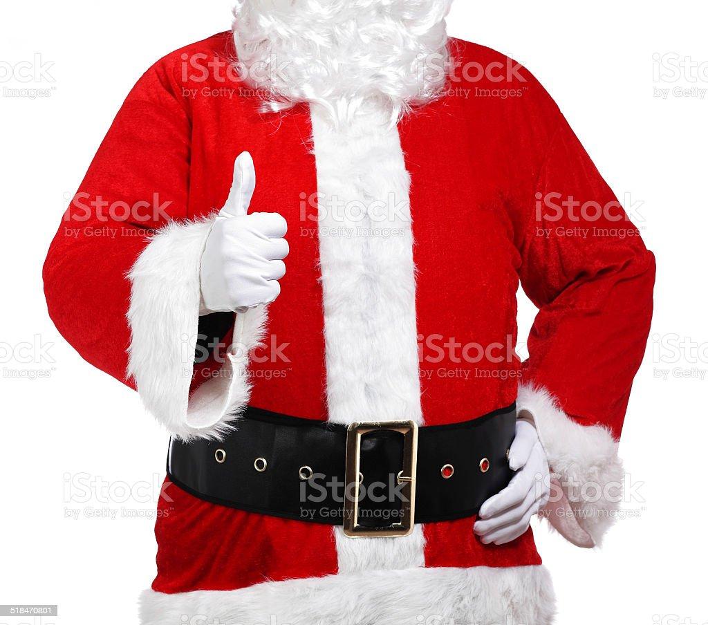 Santa Claus doing the okay sign stock photo