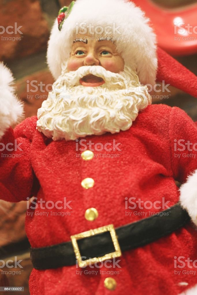 Santa Claus dolls royalty-free stock photo