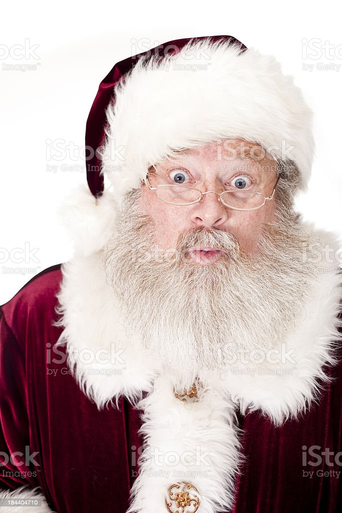 Santa Claus Expressions: Oooh stock photo