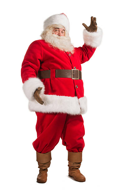 Santa Claus gesturing his hand stock photo