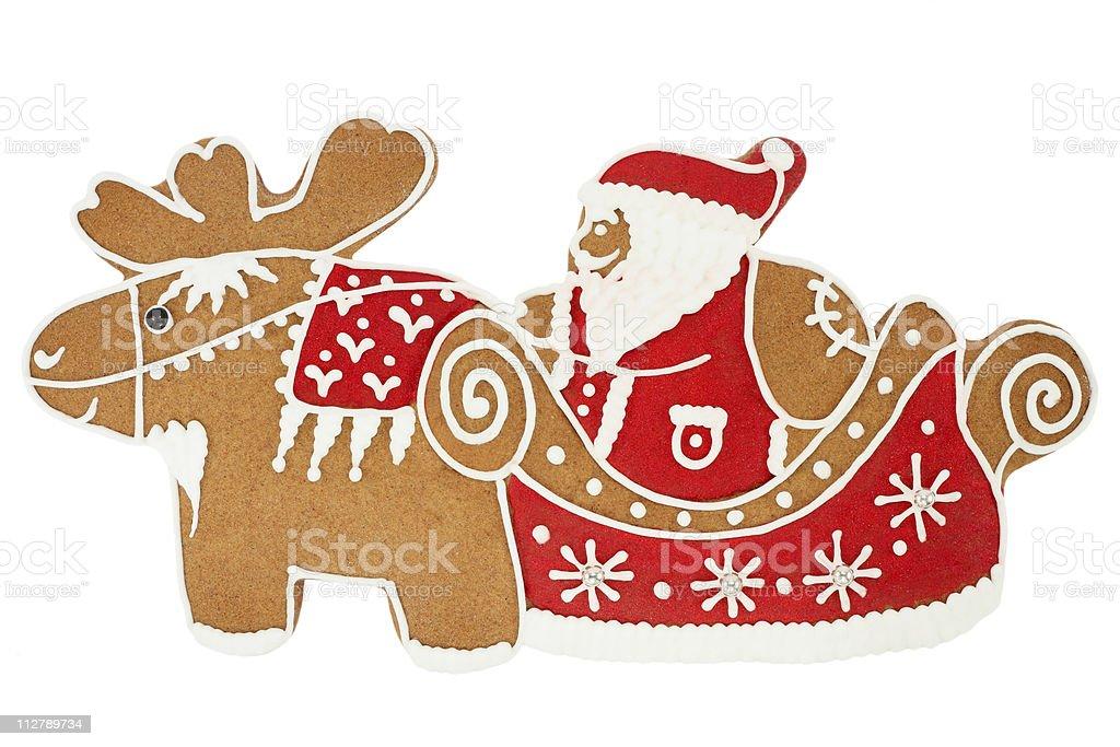 Santa Claus gingerbread royalty-free stock photo