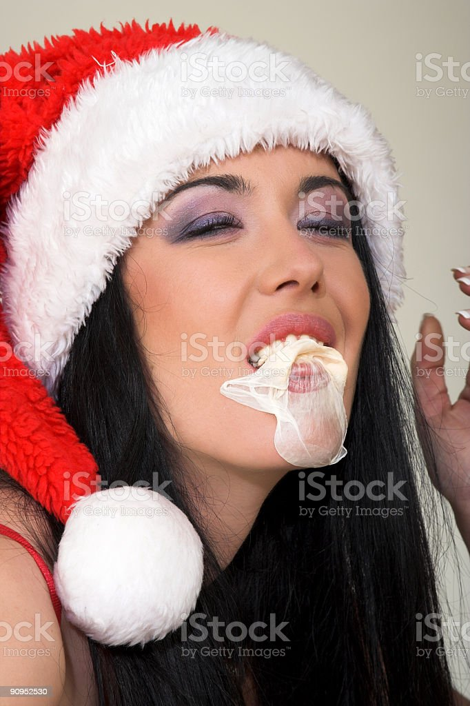 Santa Claus Girl portrait royalty-free stock photo