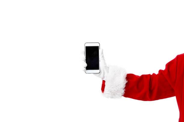 santa claus-hand - weihnachtsprogramm stock-fotos und bilder