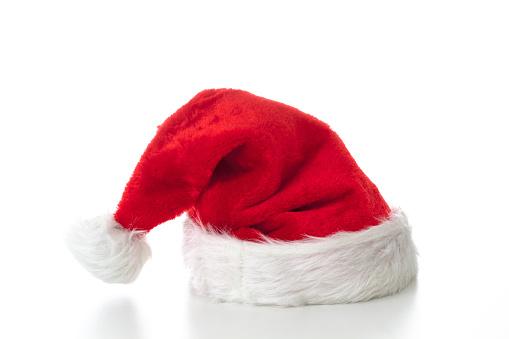 Santa Claus hat on white background