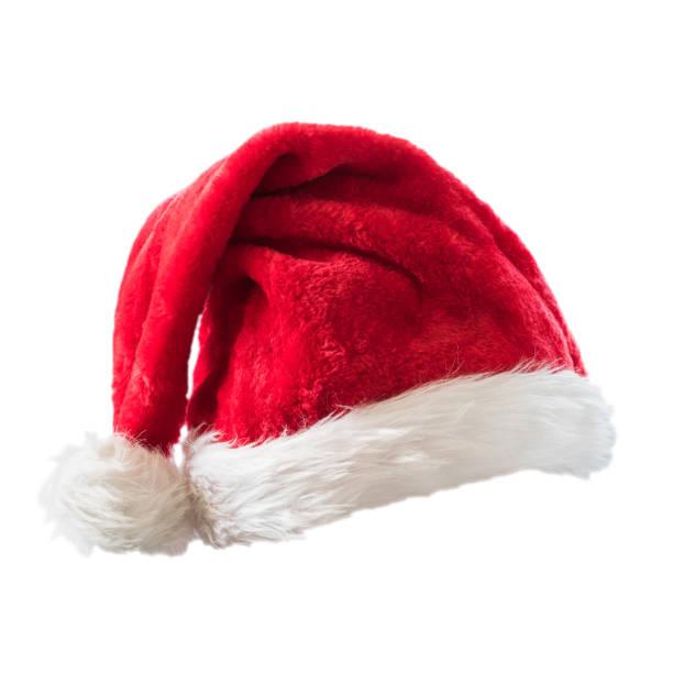 santa claus helper hoed kostuum geïsoleerd op een witte achtergrond met uitknippad voor kerstmis en nieuwjaar vakantie seizoensgebonden viering design decoratie. - clipping path stockfoto's en -beelden