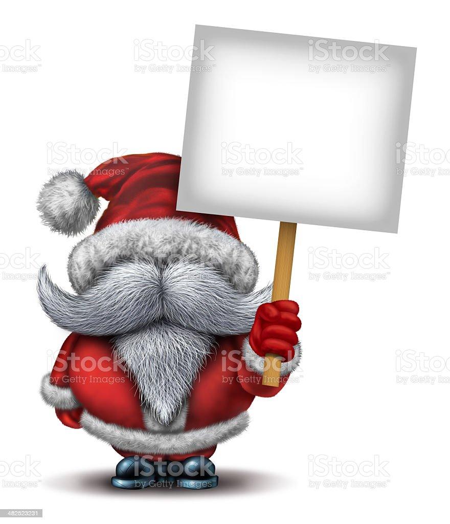 Santa Claus Holding A Sign royalty-free stock photo
