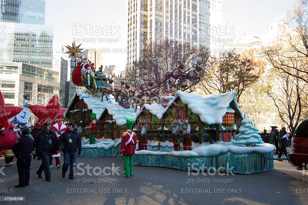 Santa Claus in 2013 Macy's day parade stock photo