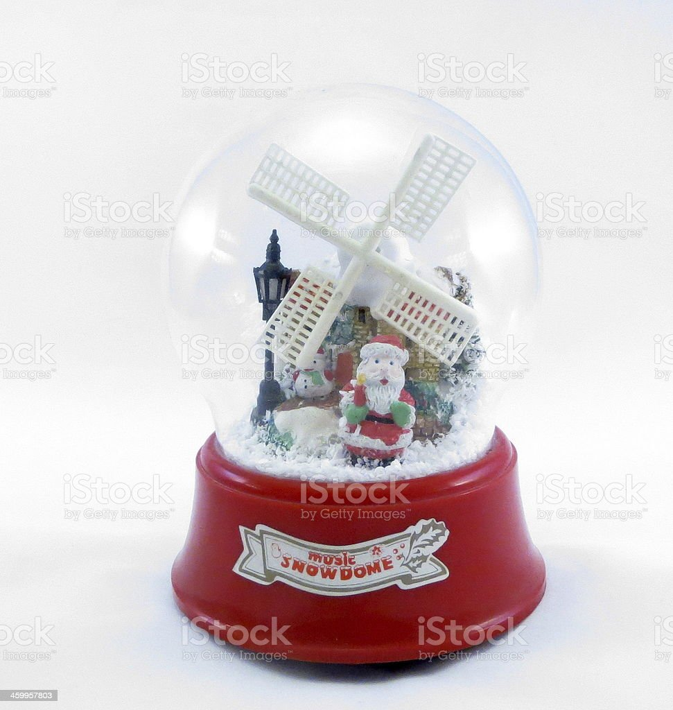 Santa Claus in a crystal ball stock photo