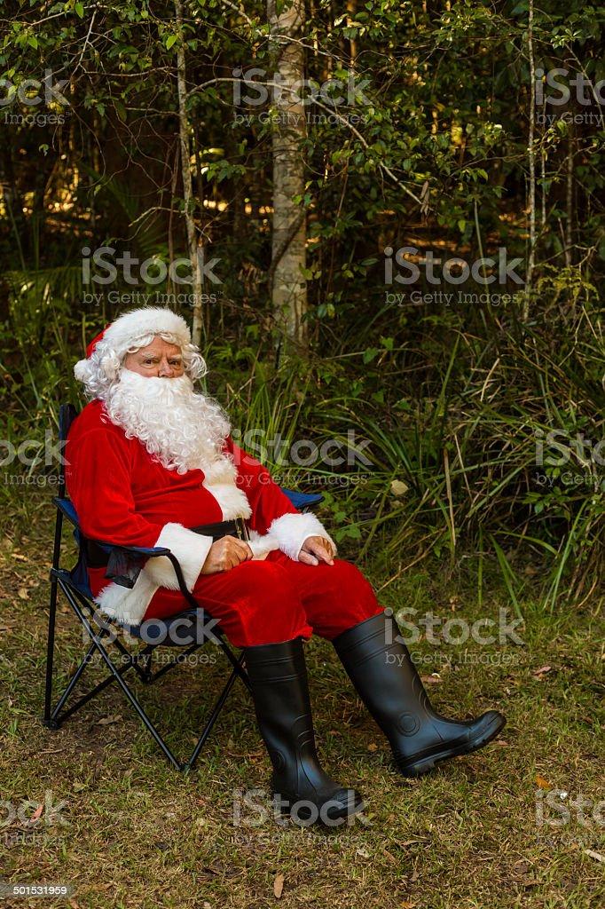 Christmas Camping Australia.Santa Claus In The Australian Bush Stock Photo More