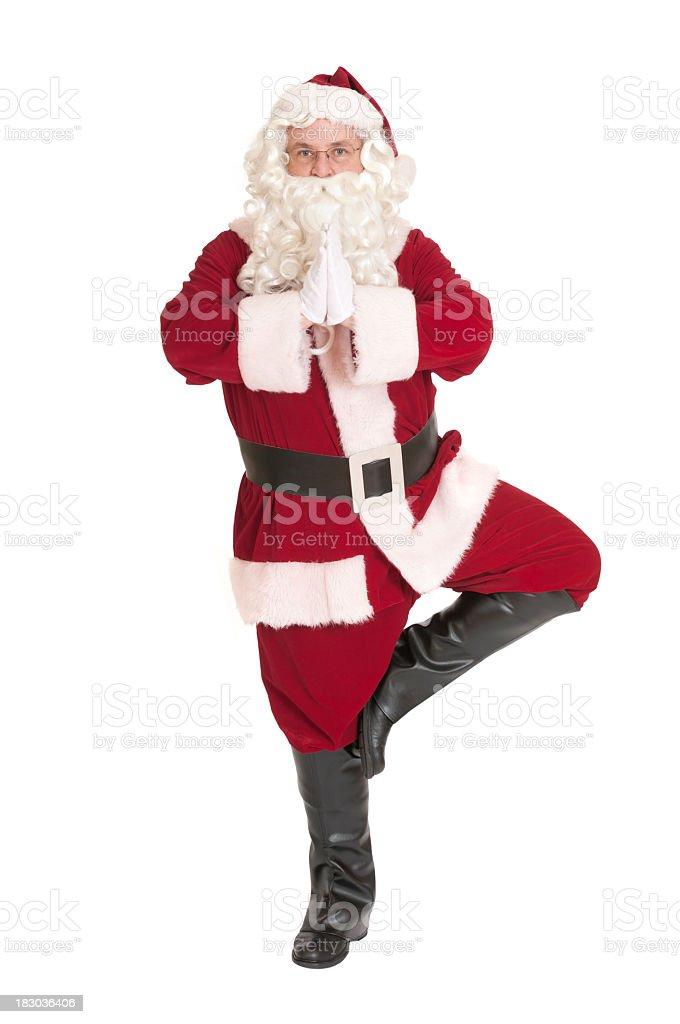 Posizione Babbo Natale.Babbo Natale In Posizione Dellalberoserie Yoga Fotografie Stock E