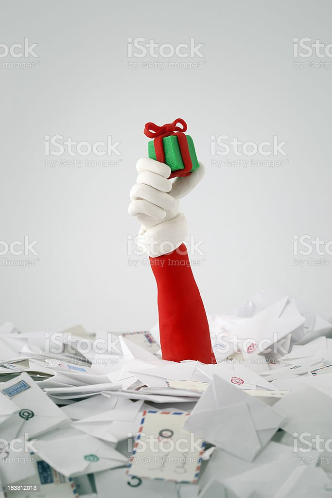 Santa Claus inunded royalty-free stock photo