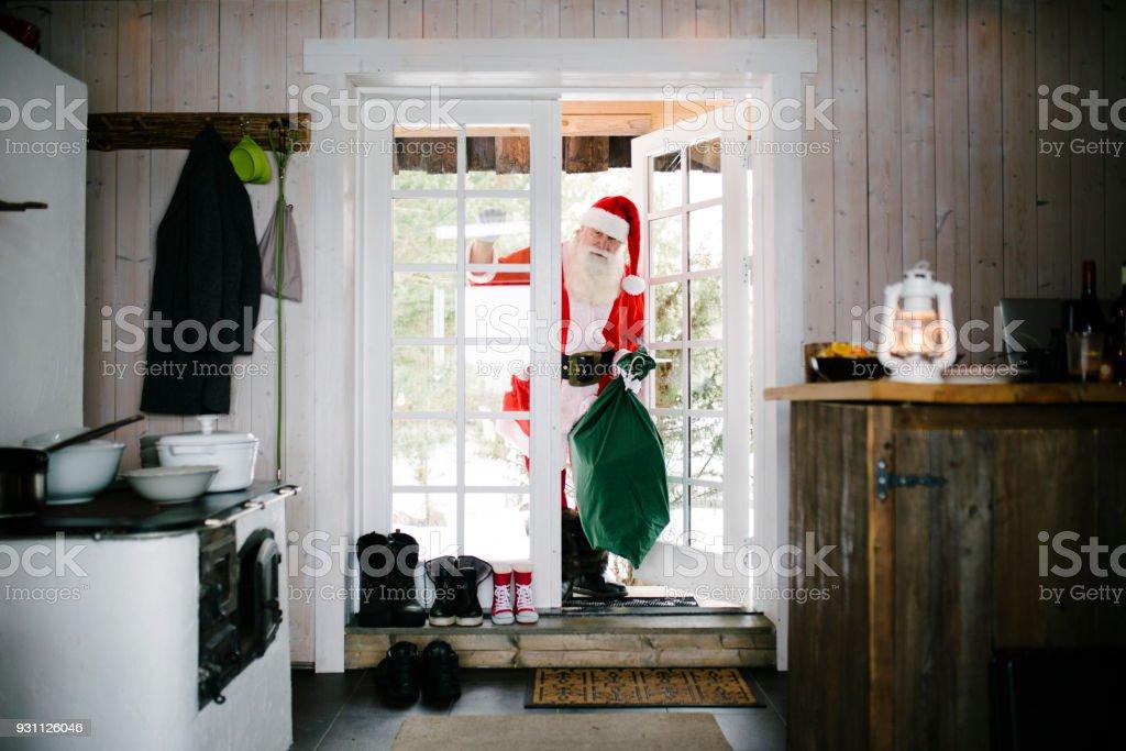 Noel Baba kapısını çalıyor - Royalty-free 2018 Stok görsel