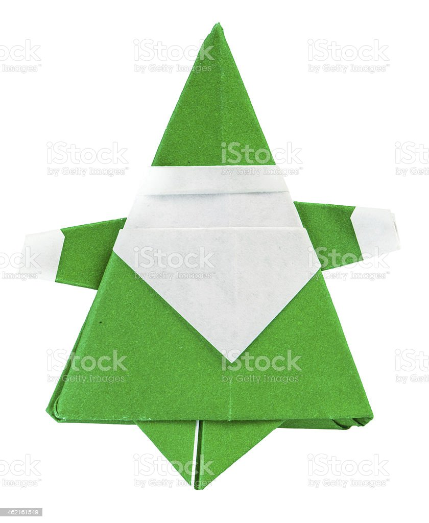 Santa Claus made of paper royalty-free stock photo
