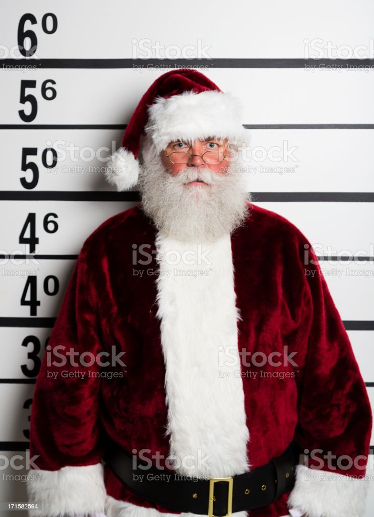 Santa Claus Mugshot royalty-free stock photo