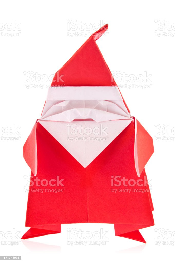 Santa Claus of origami stock photo