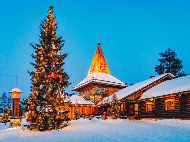 Santa Claus Office Santa Claus Village Rovaniemi stock photo