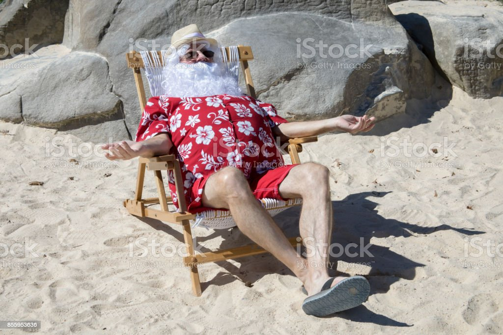 5683883d Santa Claus On Vacation Stock Photo & More Pictures of Adult | iStock
