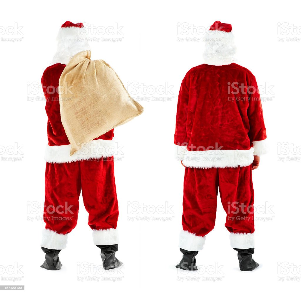 Santa Claus (with and without Sack) royalty-free stock photo