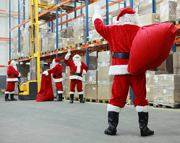 santa claus ready for christmas stock photo