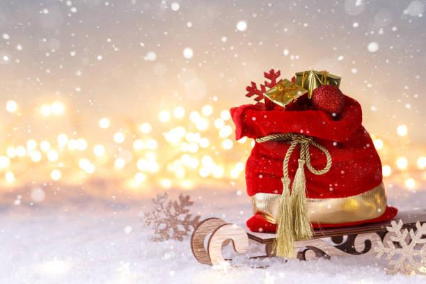 Weihnachtsmann roter Sack – Foto