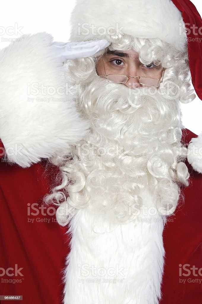 Santa Claus saluting royalty-free stock photo