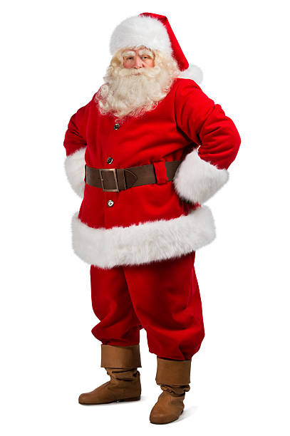 Santa Claus standing isolated stock photo