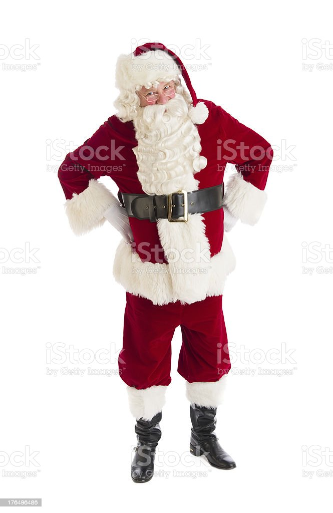 Santa Claus Standing With Hands On Hips royalty-free stock photo