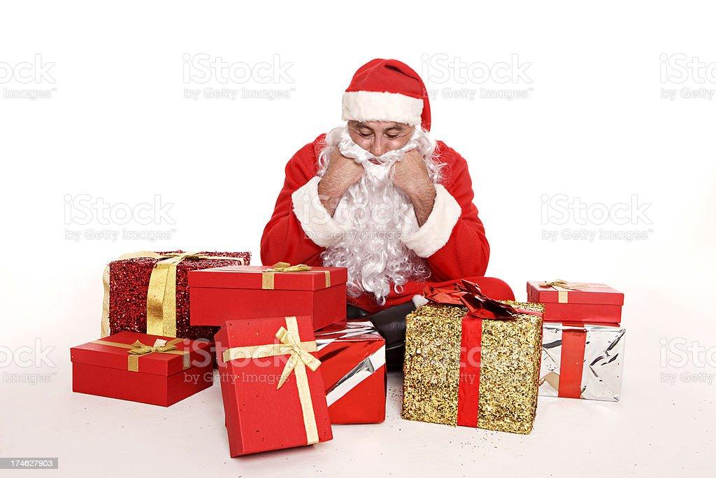 Santa Claus taking a break royalty-free stock photo