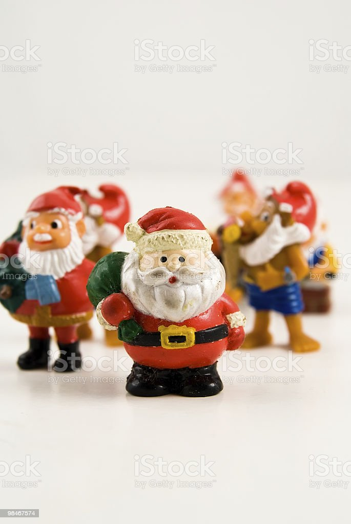 santa claus team royalty-free stock photo