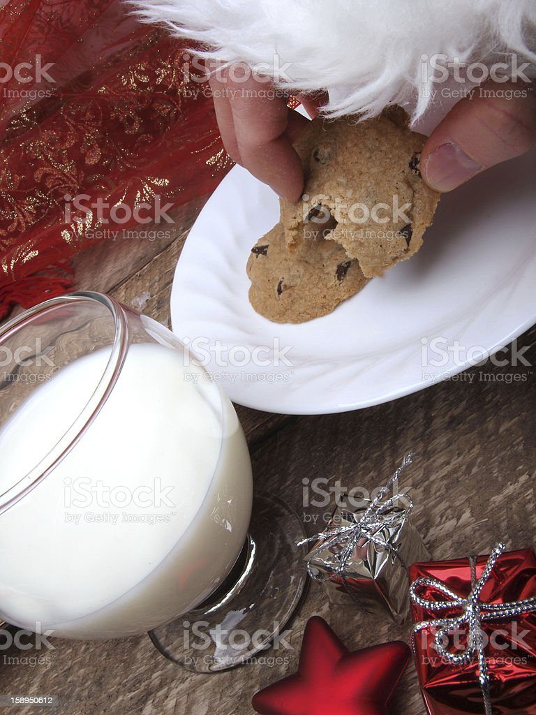 Santa Claus, time for Christmas Cookies royalty-free stock photo