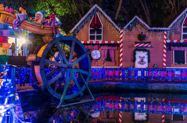 Santa Claus village in Oneiroupoli. Drama Greece stock photo