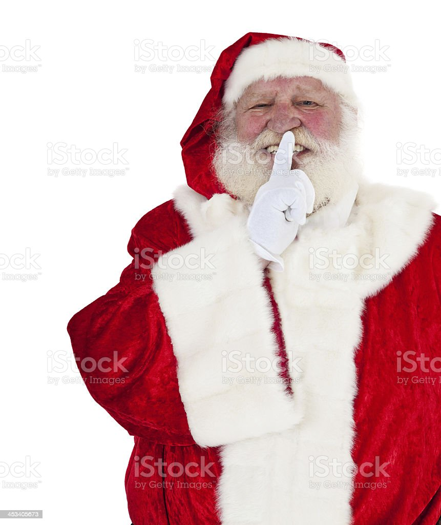 Santa Claus wants you to keep a secret royalty-free stock photo