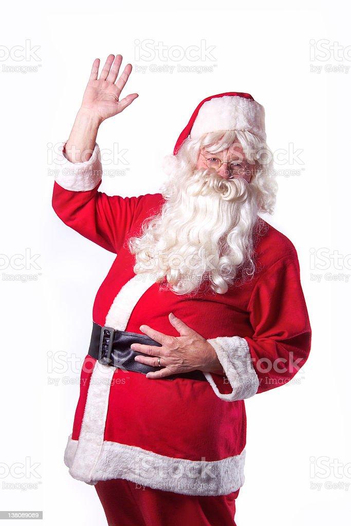Santa Claus waving royalty-free stock photo