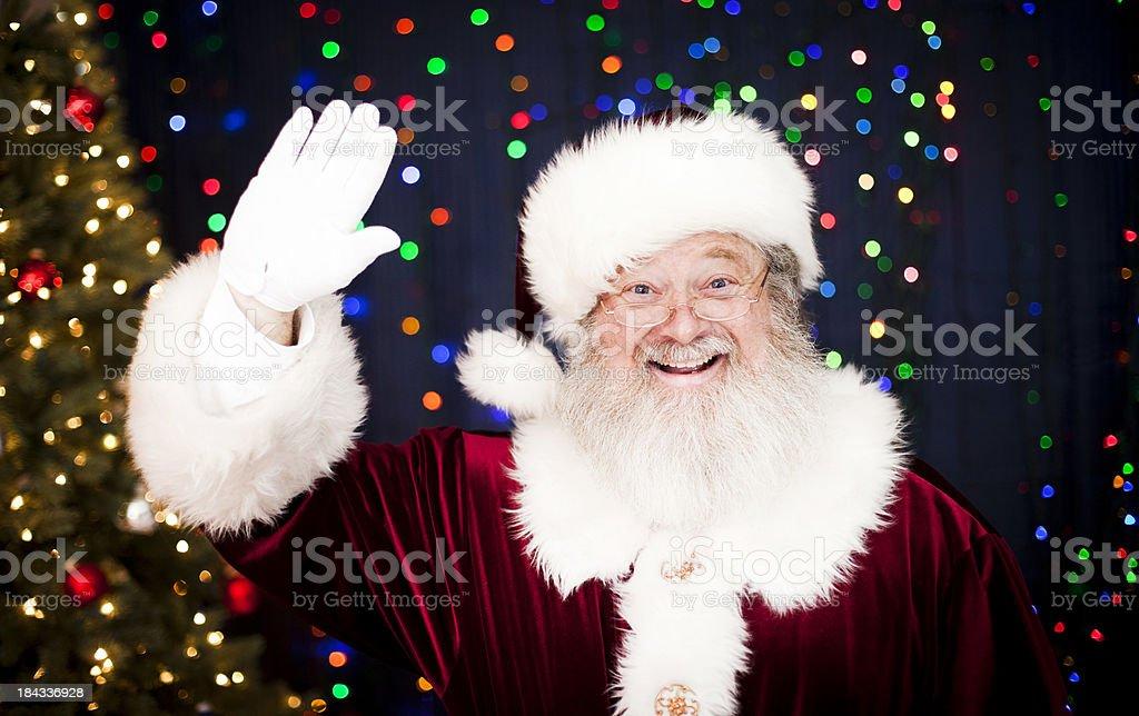 Santa Claus Waving stock photo