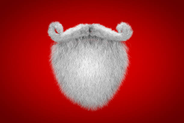 santa claus white mustache and spade beard - beard stock pictures, royalty-free photos & images