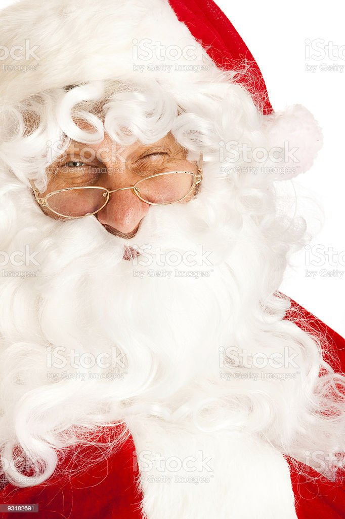 Santa Claus winking royalty-free stock photo