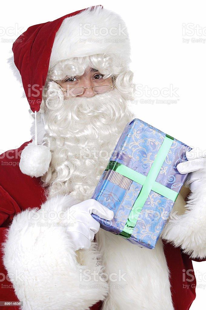 Santa Claus con regalos foto de stock libre de derechos