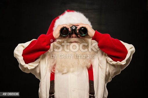 621898406 istock photo Santa Claus with binoculars 491365536