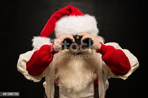621898406 istock photo Santa Claus with binoculars 491365700
