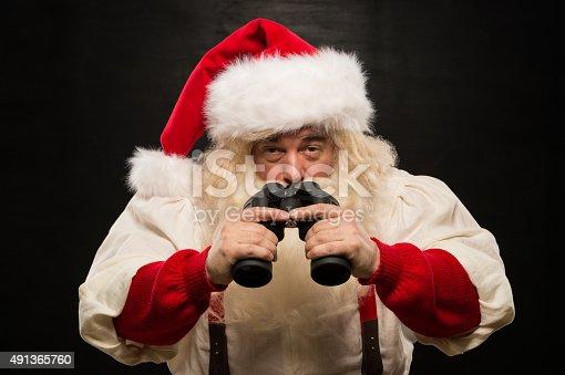 621898406 istock photo Santa Claus with binoculars 491365760
