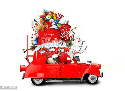 istock Santa Claus with gifts 613138362