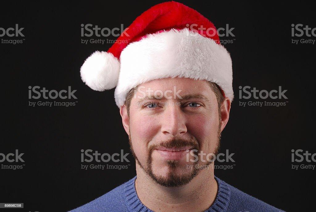 С Санта-Клауса шляпа Стоковые фото Стоковая фотография