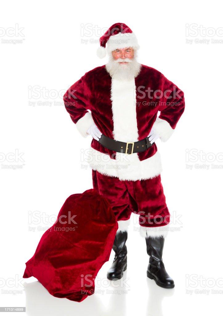 Santa Claus with His Bag royalty-free stock photo