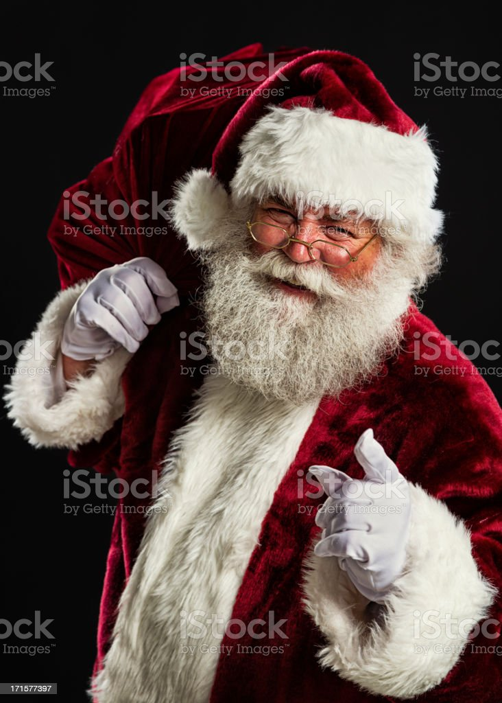 Santa Claus with His Bag stock photo