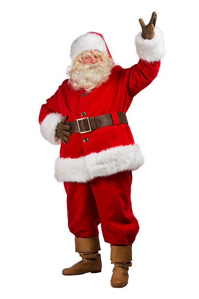Santa Claus with his hands open stock photo