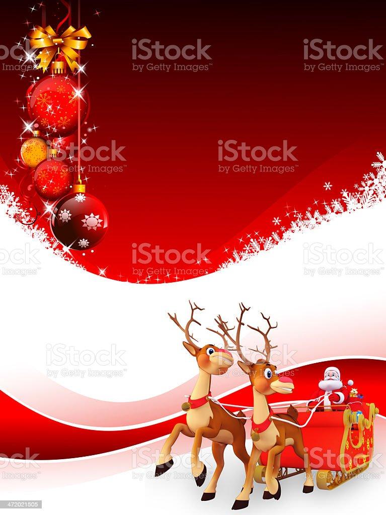 Sfondi Babbo Natale.Con La Sua Slitta Di Babbo Natale Su Sfondo Rosso Fotografie Stock E Altre Immagini Di Agrifoglio Istock