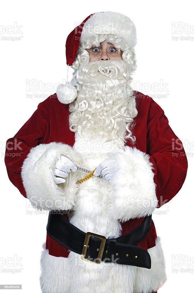 Santa Claus with measure tape royalty-free stock photo