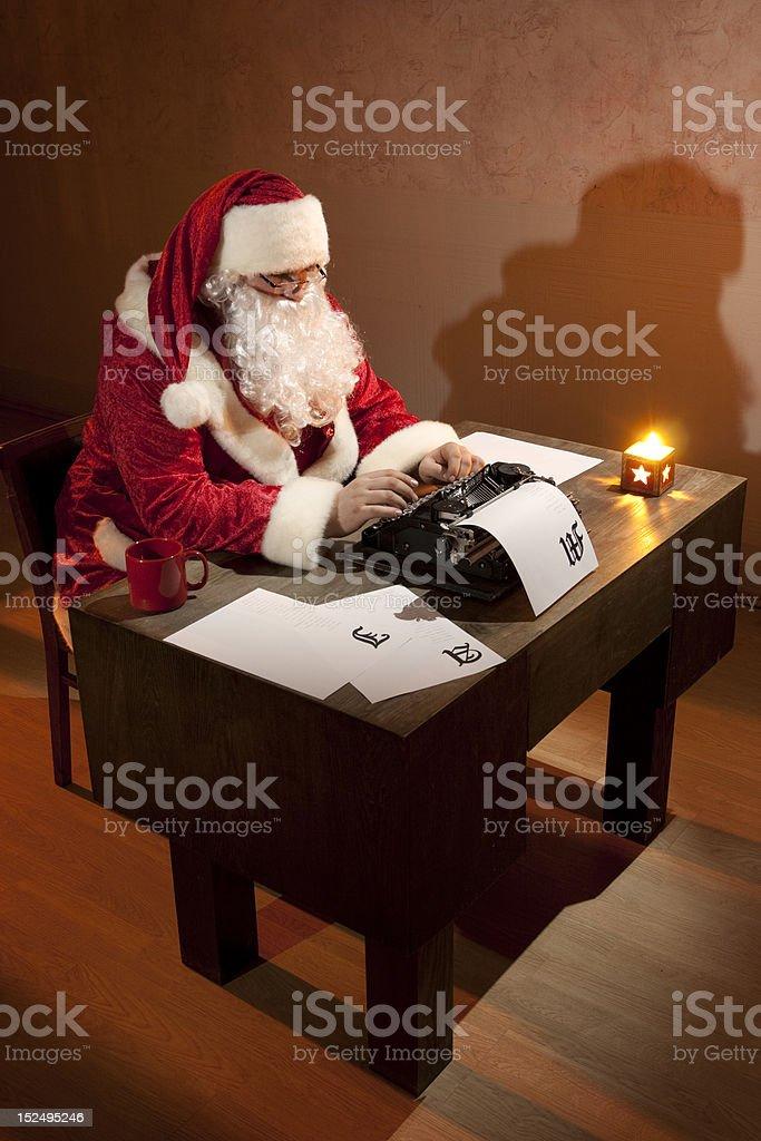 Santa Claus working royalty-free stock photo