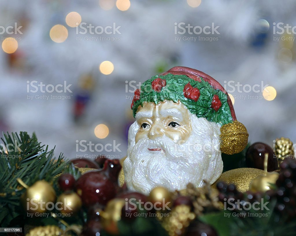 Santa Claus wreath royalty-free stock photo